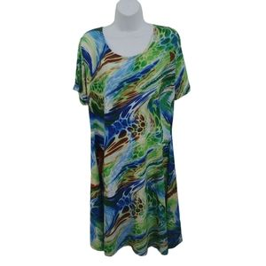 Fitwell Abstract Summer Dress, Slinky Fabric, XXL